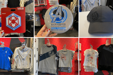PHOTOS: NEW Avengers Campus Merchandise (Apparel, Annual Passholder Button, WEB Patch, Rocket & Groot Straw, and More) Arrives at Disneyland Resort