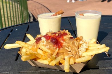 REVIEW: Turkey Poutine and Boozy Eggnog Return to   Refreshment Port for the 2020 Taste of  EPCOT International Festival of the Holidays