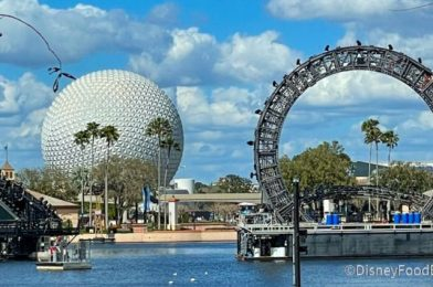 PHOTOS: Harmonious Keeps Taking Shape in EPCOT With a Centerpiece Upgrade!