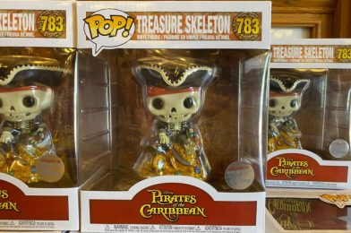 "PHOTOS: New Disney Parks Funko POP! Pirates of the Caribbean ""Treasure Skeleton"" Sails Into Disneyland"