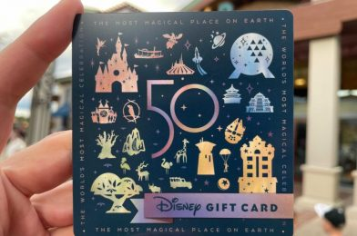 EARidescent 50th Anniversary Gift Card Arrives At Walt Disney World